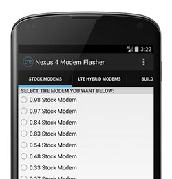 Download Nexus 4 LTE Modem Flasher for Android