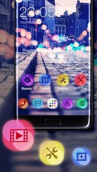 Download Stylish Romantic Theme: Neon Night Street Launcher 4.0.6 APK File for Android