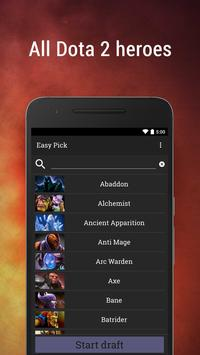 Download Easy Pick for Dota 2 11.15 | 7.22f heroes APK File for Android