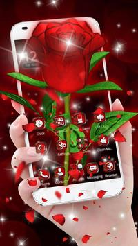 Download 3D Love Red Rose Glitter Theme 1.1.1 APK File for Android