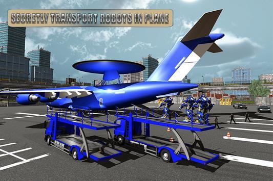 Download Police Plane Transport Game – Transform Robot Car 1 APK File for Android