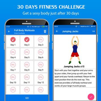 Download 30 Day Home Workout - Fit challenge home workouts 5.9 APK File for Android
