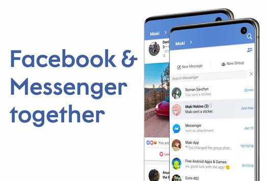 Download Maki Facebook and Messenger in one awesome app 4.5 Hortensia APK File for Android