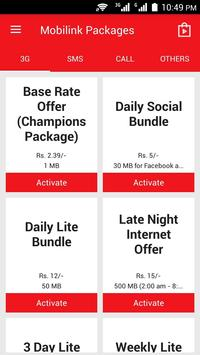 Download Mobilink 3G Packages, Call,SMS 1.1 APK File for Android