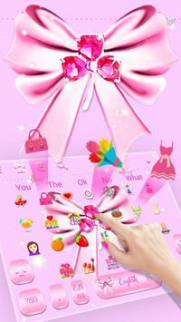 Download Pink SMS Keyboard Theme Diamond Ribbon 10001002 APK File for Android