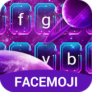 Purple Galaxy Emoji Keyboard for Android APK
