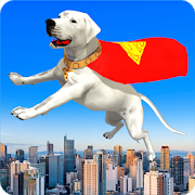Flying Superhero Dog Hero City Rescue: Dog Games APK