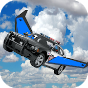 Flying Police Car Free Ride 3D APK