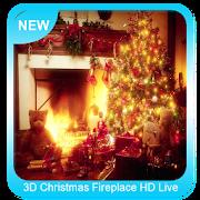 3D Christmas Fireplace HD Wallpaper APK