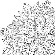 Flowers Mandala coloring book APK