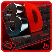 3D Classic Red Black Keyboard Theme APK