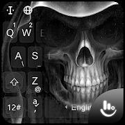 Black Death Skull Keyboard Theme APK