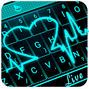 Live 3D Neon Heart Keyboard Theme APK