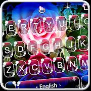 Live 3D Shining Colorful Rose Keyboard Theme APK
