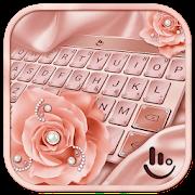 Pink Rose Gold Keyboard Theme APK