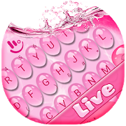 Live 3D Pink Water Keyboard Theme APK