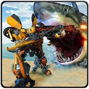 Car Robot Shark Hunting-Monster Shark Survival APK