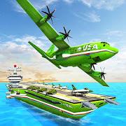 US Army Transporter – Plane Transport Ship Game APK