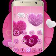 Fluffy diamond Hearts Theme: Pink Comics Launcher APK