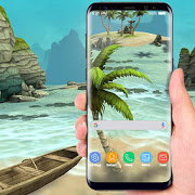 Beach Live Wallpaper HD Background: Island 3D APK