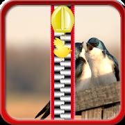 Love Birds Zipper Lock Screen APK
