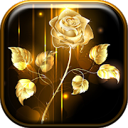 Golden Rose Live Wallpaper HD APK