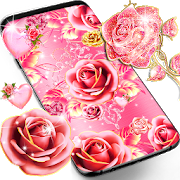 Pink rose gold live wallpaper APK