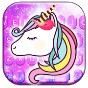 Adorable Galaxy Unicorn Keyboard Theme APK