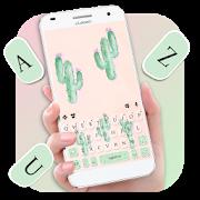 Cute Cartoon Cactus Keyboard Theme APK