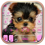 Cute Tongue Cup Puppy Keyboard Theme APK