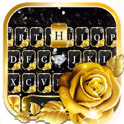 Gold Rose Lux Keyboard Theme APK