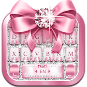 Pink Bow Diamond Luxury Keyboard Theme APK