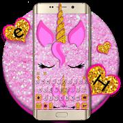 Pink Glisten Unicorn Cat Keyboard Theme APK