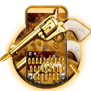 Western Gold Gun Keyboard Theme APK