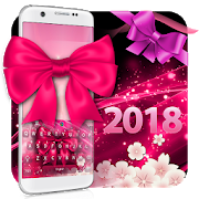 Pink Glow Ribbon Keyboard APK