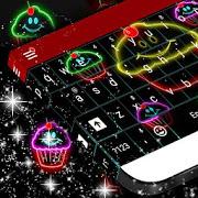 Keyboard Theme Neon Cupcakes APK