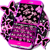 Neon Butterflies Keyboard APK