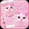 Cute Kitty theme Pink Bow Kitty APK