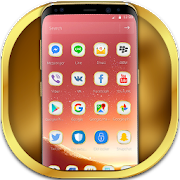 Rose Gold Classy Theme for Galaxy S8 APK