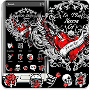 Skull Rose Red Theme APK