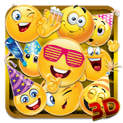 Emoticons New Year 3D Theme APK