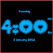 Love clock live wallpaper APK