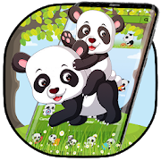 Lovely Forest Panda Theme APK