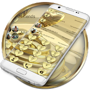 Dialer Hearts Gold Theme APK
