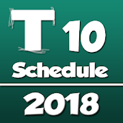 T 10 Cricket League Schedule 2018 APK