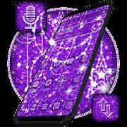 Purple Glitter Moon Theme APK