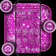 Purple Glitter Sparkling Theme APK