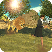 Angry Lion Village Attack - Wild Lion Simulator 3D