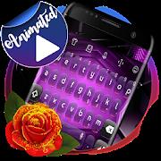 Digital Purple 3D Keyboard APK
