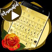 Golden Keyboard Animated APK
